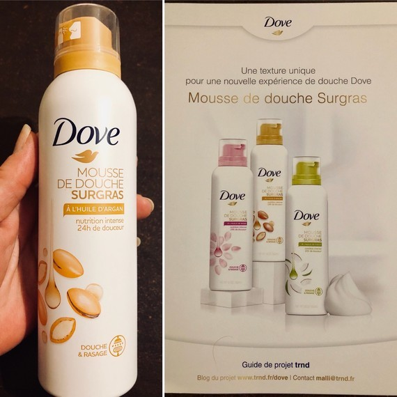Mousse de douche surgras Dove