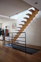 garde-corps d'escalier, acier et sandows.