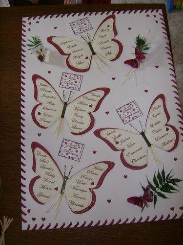 Cherche mod le de papillon pour plan de table mariage forum vie pratique - Modele de papillon ...