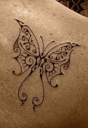 Tatouage Papillon Sur Dos Dorsal Droite Femme Tatoos Lunalovegood Photos Club Doctissimo