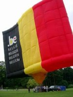 Belgian flag and hot air balloon