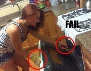 Oven Glove Fail