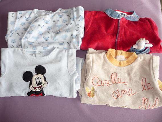 lot 4 pyjamas 3 mois