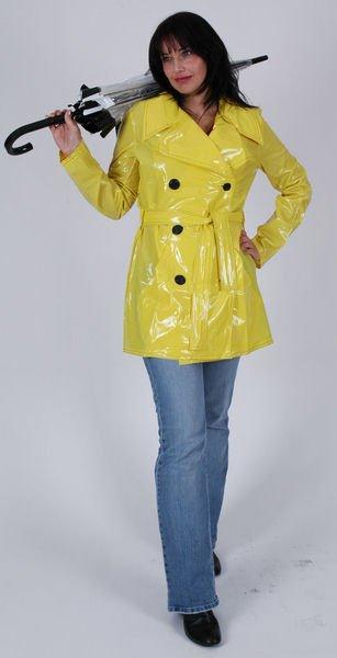 Trench ciré jaune