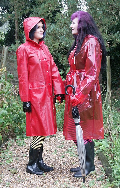 Red Pvc Coat Han Coats