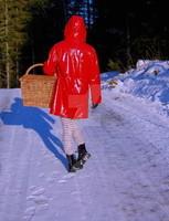Petit chaperon (en PVC) rouge