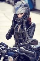 Latex biker.