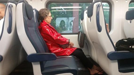 Train rouge.