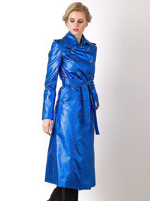 Blue trench.