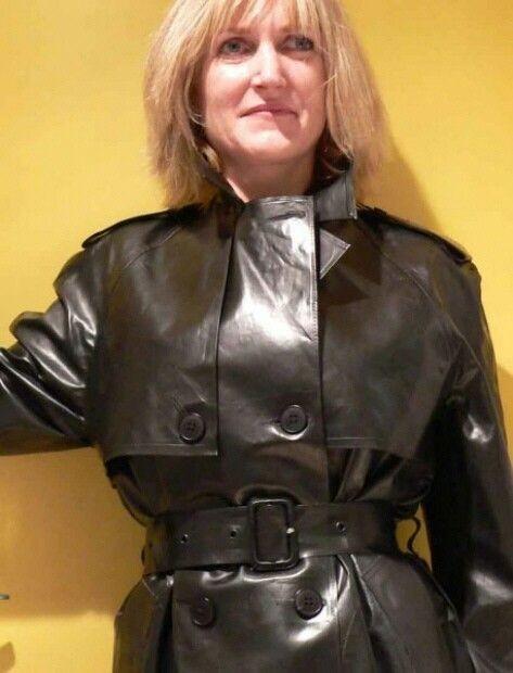 Rubber raincoat.