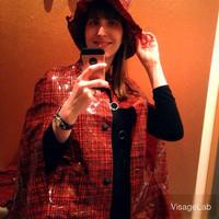 Selfie en cape.