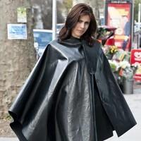 Rubber cape.
