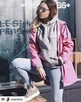 Pink sportswear.