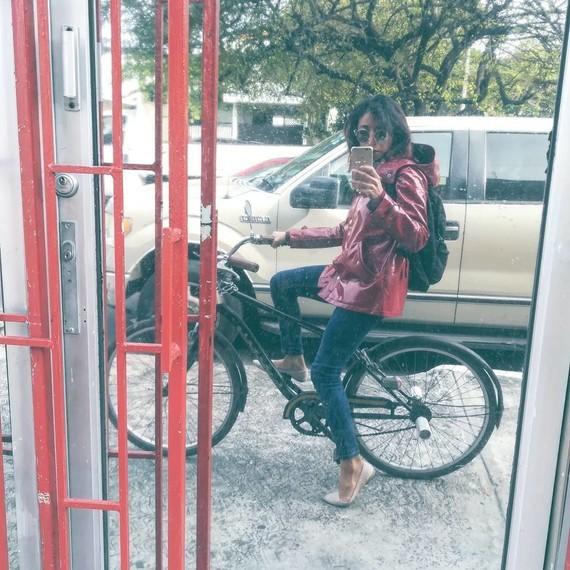 Selfie à 2 roues.