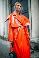 A l'orange pour la Fashion Week.