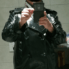 Trench ciré noir