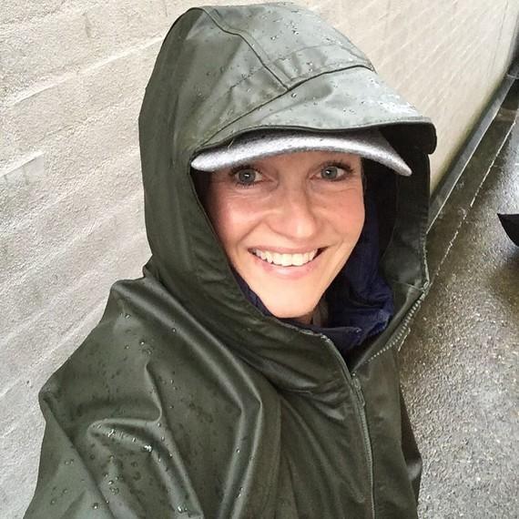 La pluie donne le sourire.