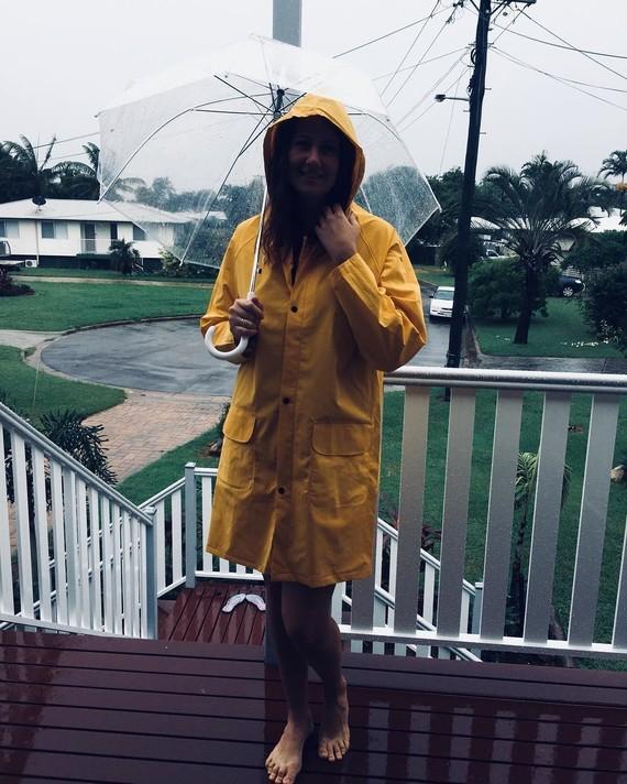 Style de pluie d'été.