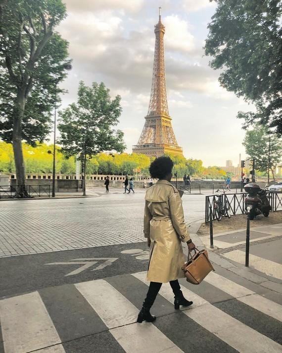 Burberry in Paris.