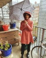 Pluie au balcon.