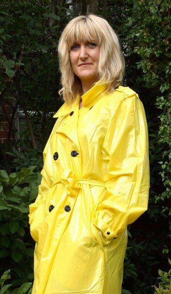 Trench PVC jaune