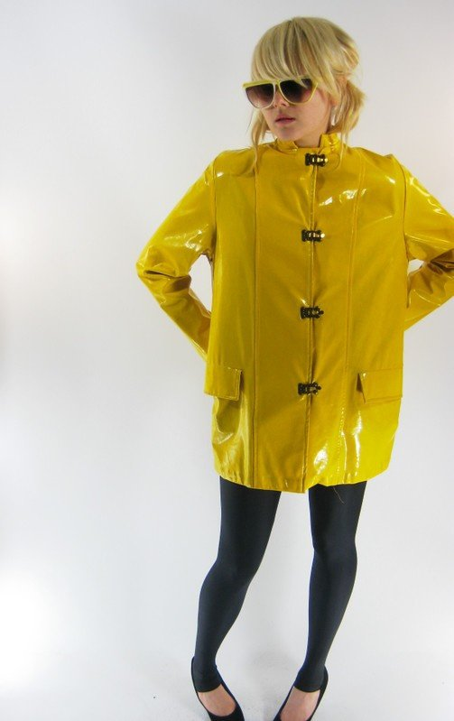Blouson vinyl jaune