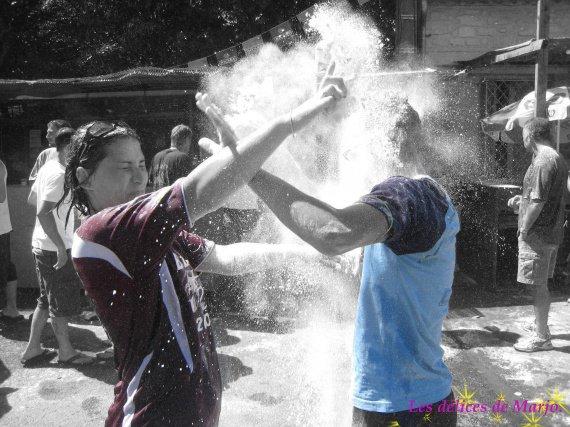 bataille de farine fêtes 2007