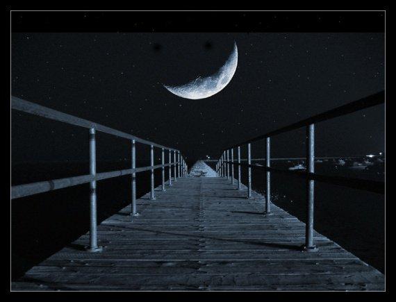 image un pont la nuit