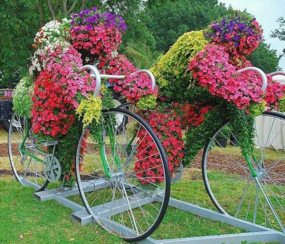 image vélos fleuris