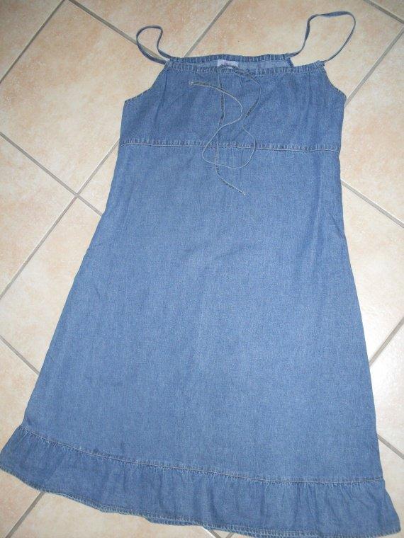 """Superbe robe jean's """"ligne materité"""""""