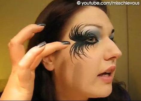maquillage halloween ange noir
