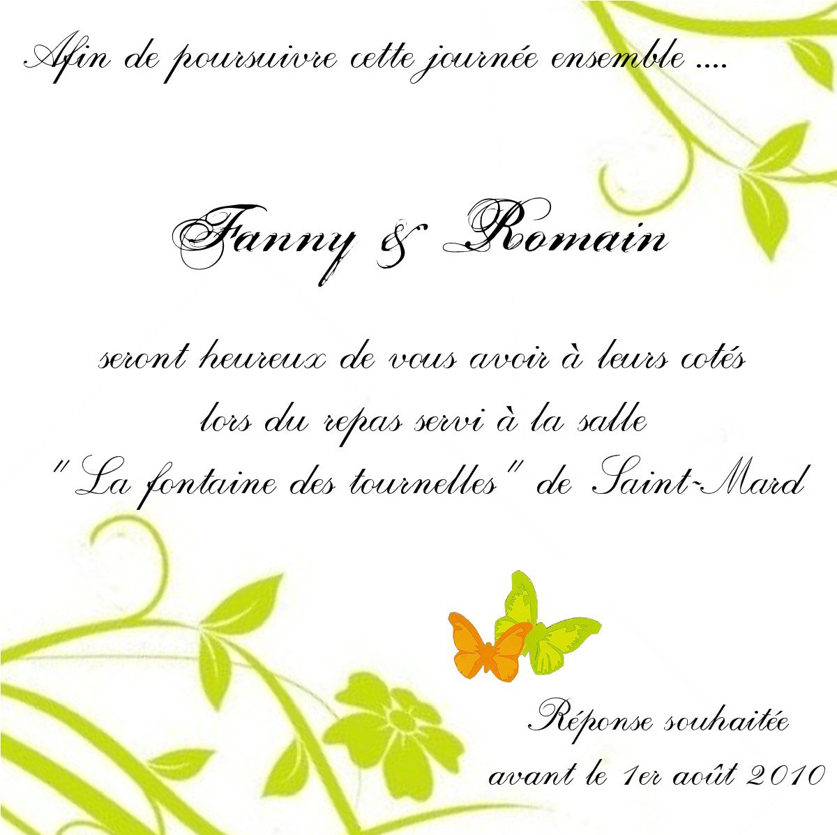 Texte Faire Parts Et Invitation Mariage Forum Vie Pratique