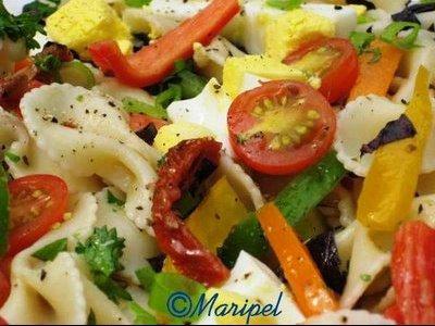 Salade_de pâtes aux oeufs et tomates2..