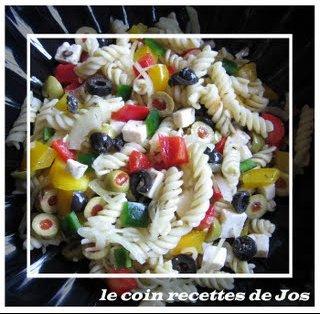 salade de pâtes grecque