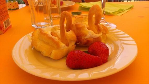 Pâte à choux fourrée - Dessert