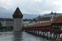 Le très célèbre pont couvert de Lucerne