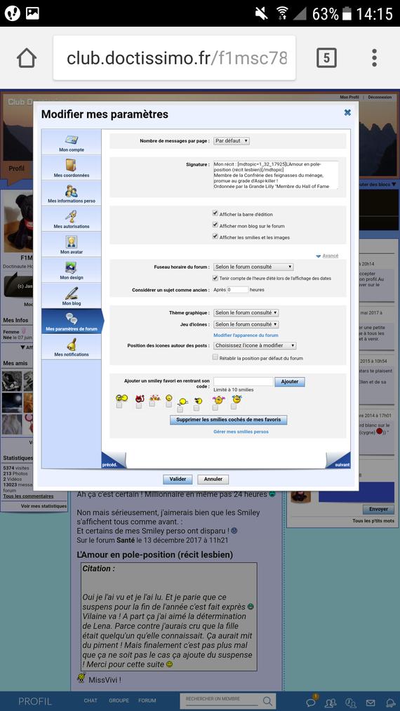 Screenshot liste complète