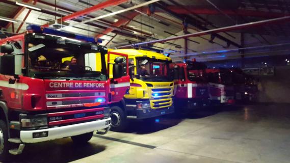 Parc de véhicules pompiers