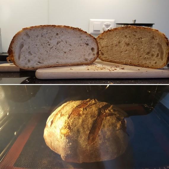 1er essai pain au levain maison