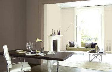 salon-couleur-lin-bureau-couleur-peinture-taupe - appartement ...