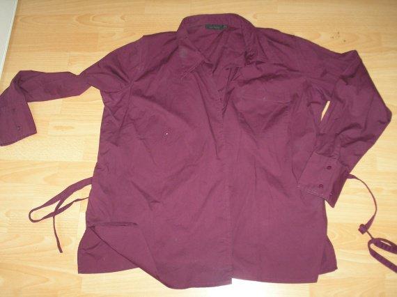 chemise violette lien ds le dos kiabi maman T50/52