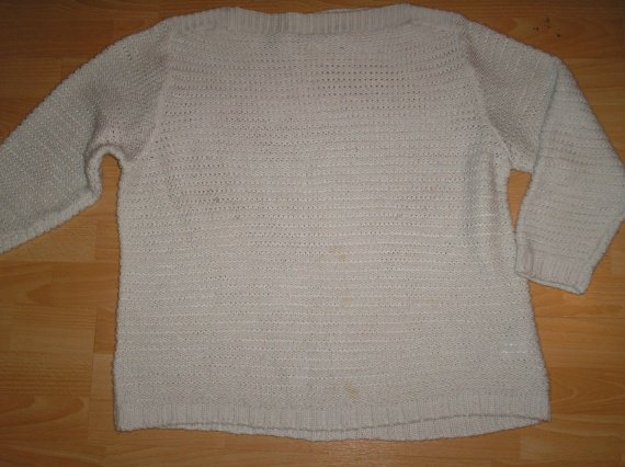 pull blanc grosse maille grande taille