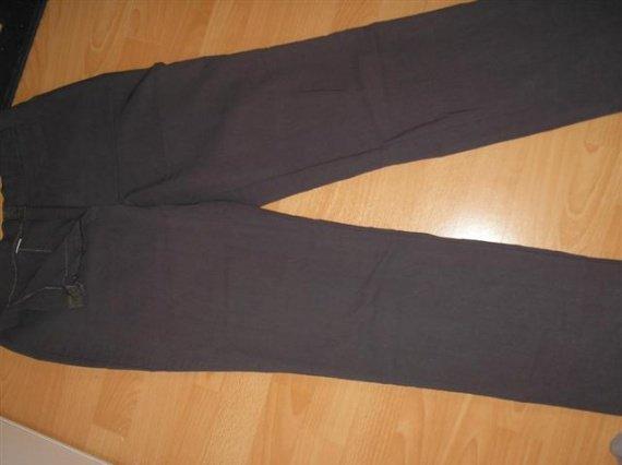 pantalon gris fermeture scratch 38/40