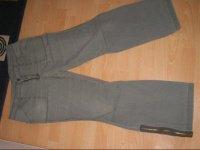 pantalon tipster zip au bas de jambiere, delavé 44