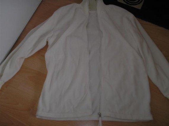 veste polaire blanche fine, carla faustini 46/48