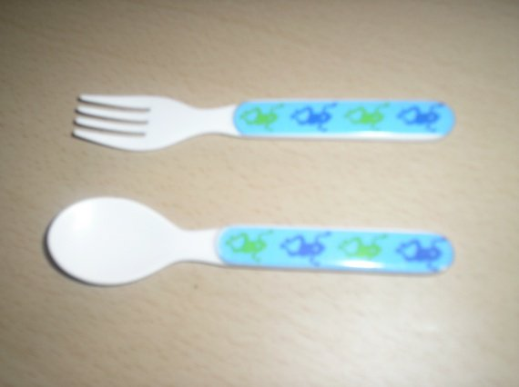 cuillere+fourchette plastique