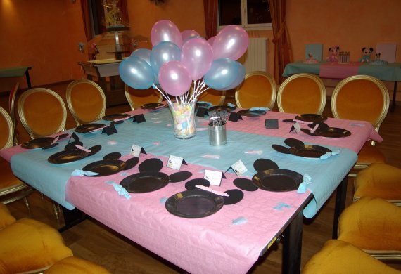 Decoration bapteme mickey - Idee de deco pour bapteme ...