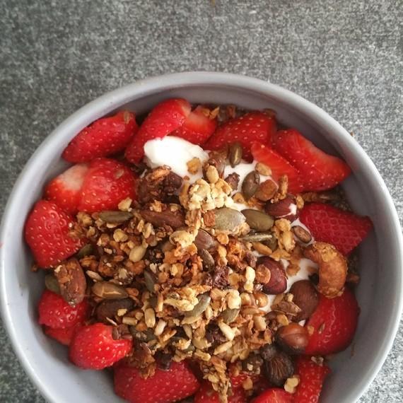 pudding chia /fraise