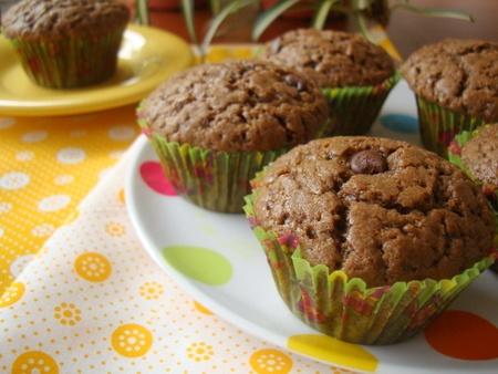 muffins petites de chocolat