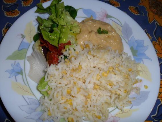 riz et houmous